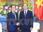 Le président Trân Dai Quang loue le partenariat stratégique élargi Vietnam-Japon