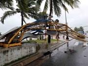 Le typhon Damrey ravage des localités au Centre