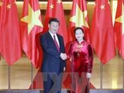 Vietnam-Chine : Entrevue entre Nguyên Thi Kim Ngân et Xi Jinping