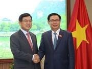 Le vice-Premier ministre Vuong Dinh Hue reçoit le dirigeant de Samsung au Vietnam