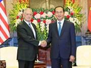 Le président Tran Dai Quang reçoit le secrétaire d'Etat américain à la Défense