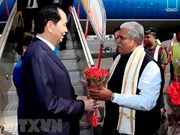 Le président Tran Dai Quang est arrivé en Inde