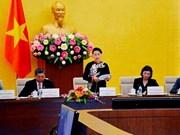 La présidente de l'AN reçoit une délégation du réseau parlementaire sur la  BM et le FMI