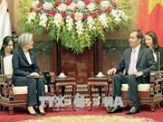 Le chef de l'Etat reçoit la ministre sud-coréenne des Affaires étrangères