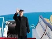 Le leader du PCV Nguyen Phu Trong quitte Hanoi pour la France