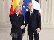 Entrevue entre le SG du PCV Nguyên Phu Trong et le président de l'AN François de Rugy