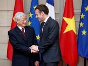 Le leader du PCV remercie le président français pour son accueil