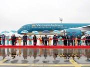 Le leader du PCV assiste à la livraison d'un avion A350 en France