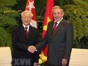 Message de remerciement du leader du PCV à Raul Castro Ruz