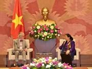 La vice-présidente de l'AN Tong Thi Phong reçoit un ancien secrétaire général de l'UIP