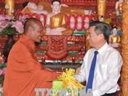 Voeux aux Khmers à l'occasion de la fête Chol Chnam Thmay