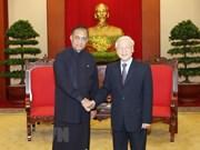 Le leader du PCV Nguyên Phu Trong reçoit le président du parlement sri-lankais