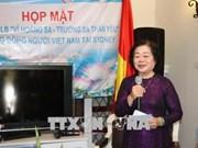 L'ancienne vice-présidente Truong My Hoa rencontre des expatriés vietnamiens en Australie