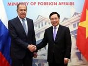 Message de félicitations au ministre des Affaires étrangères russe