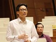 Education : le vice-PM Vu Duc Dam parle devant les députés