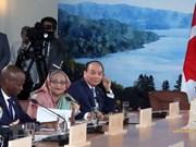 Un article de VNA sur la participation du Vietnam au Sommet du G7 élargi a publié au Canada