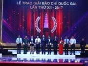 Remise des Prix nationaux de la presse 2017