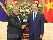 Le président Tran Dai Quang reçoit son homologue de la République de Nauru