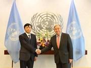 Le secrétaire général de l'ONU apprécie la coopération du Vietnam