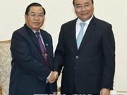 Le PM Nguyen Xuan Phuc reçoit le vice-président de l'AN du Laos Sengnouan Xayalath