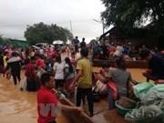 La présidente de l'AN adresse ses sympathies au Laos suite à l'effondrement du barrage