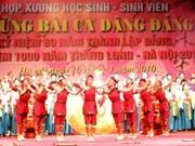 """HCM-V: festival de choral """"Chansons exaltant le Parti"""""""