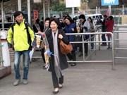 Afflux de touristes étrangers au Jour de l'an lunaire