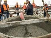 Inauguration d'une usine de production de béton au Cambodge