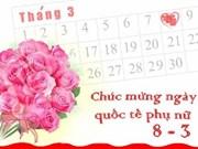 8 Mars: Vaste choix de cadeaux pour les femmes