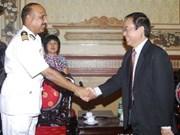 Un navire garde-côte indien à Ho Chi Minh-Ville