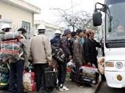 Privilège accordé aux travailleurs de retour de Libye