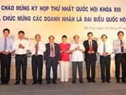 Rencontre entre Nguyen Sinh Hung et des députés chefs d'entreprises