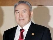 Remise du titre de docteur honoris causa au président kazakh