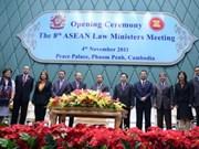 ASEAN: Les ministres de la Justice se réunissent