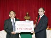 HCM-Ville accorde 50.000 dollars aux sinistrés laotiens