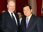 Truong Tan Sang reçoit le 73e secrétaire d'Etat au Trésor américain
