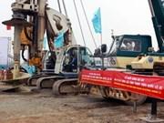 Hanoi : Mise en chantier du pont de Vinh Thinh