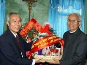 Félicitations aux catholiques à l'occasion de Noël