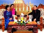 Coopération entre les femmes de Hanoi et de Vientiane
