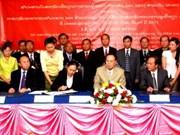 Laos : signature d'un bail de terrains pour la culture de l'hévéa