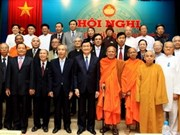 Le président Truong Tan Sang à la 4e conférence du CC du FPV