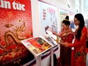 Une exposition de livres et de journaux Vietnam-Laos