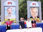 Construction d'une zone de vestiges historiques Vietnam-Laos