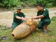 Une bombe américaine découverte à Lào Cai