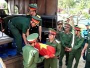 Inhumation des restes de soldats tombés à l'étranger