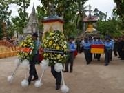 Cambodge: rapatriement des restes de Vietnamiens tombés à Kandal