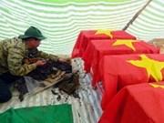 Des soldats morts au Cambodge reposent à Long An