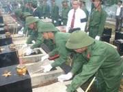 À Binh Phuoc reposent 97 héros morts au Cambodge