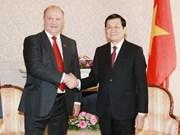 Le président Truong Tan Sang termine sa visite officielle en Russie