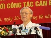Le chef du Parti insiste sur le développement des compétences des cadres
